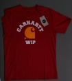 carhartt  athletic logo t-shirt chilli