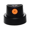 black with orange dot