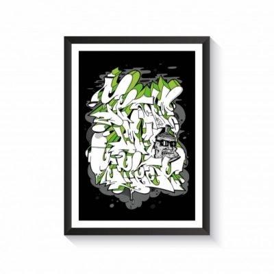 writer series x rocas plakat A2 vandal