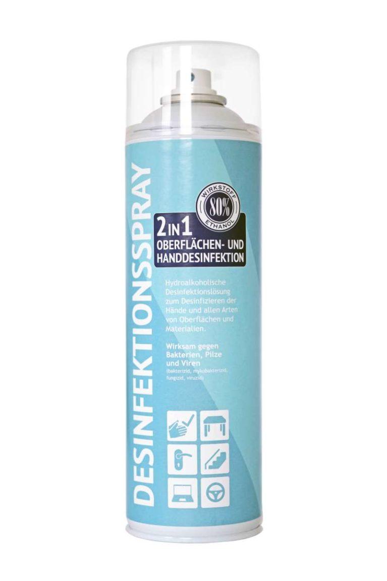 Środek dezynfekujący 2w1 w sprayu 500ml
